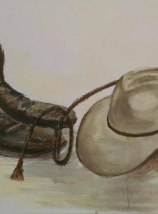 Hat, whip and RM boots