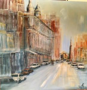 """Brunswick Street Melbourne""  painting"