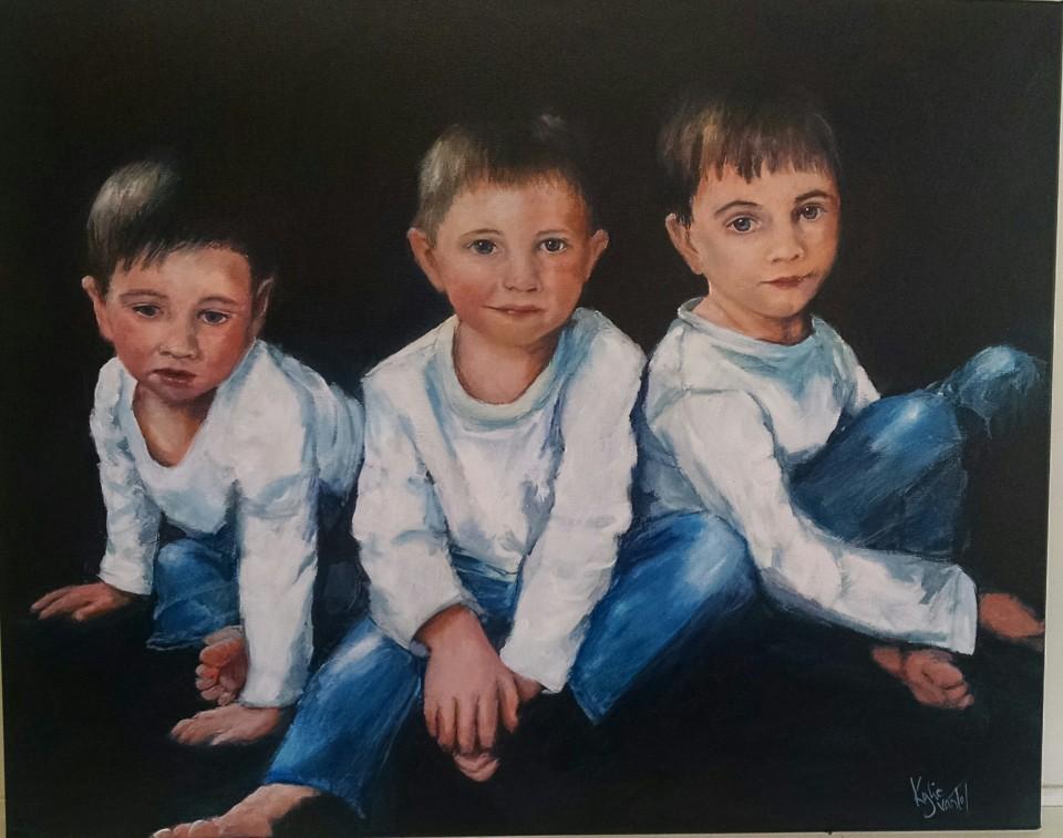 """Commission """"3 grandson's"""""""