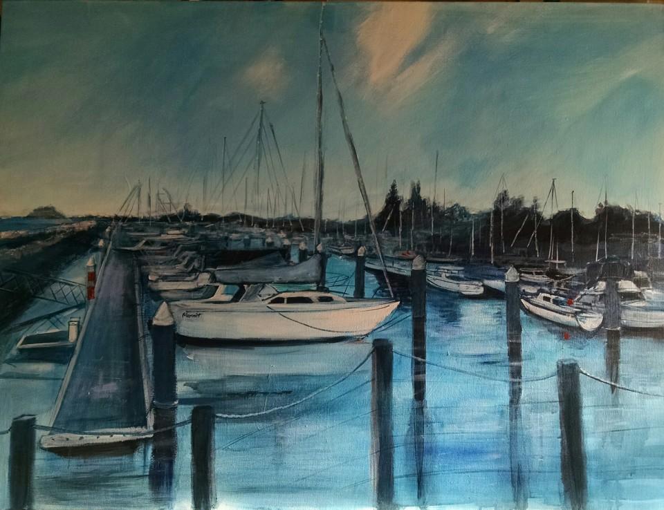 Bateman's Bay Marina 100cm x 76cm $580