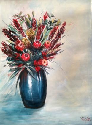 """Native flowers"" 100cm x 76cm for sale"