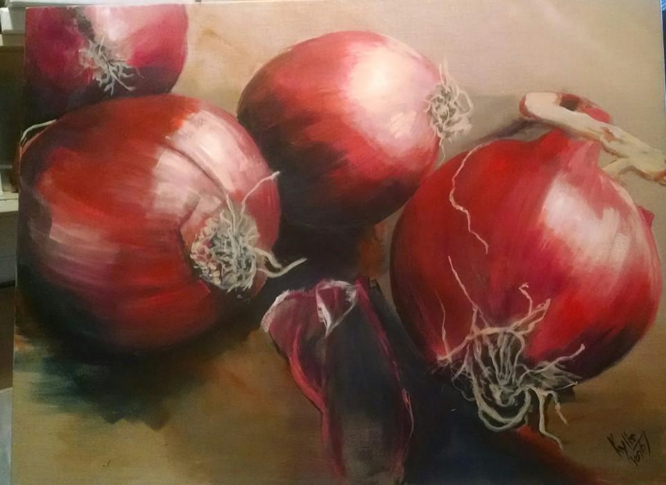 Onions - Kylie van tol paintings