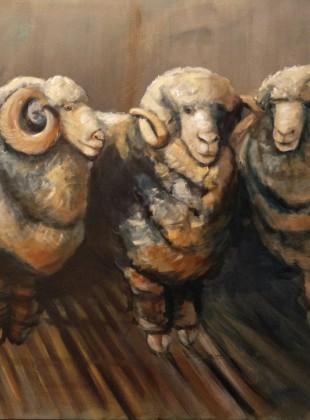 merinos size 100cm x 76cm acrylic on linen canvas SOLD