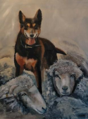 Good job boy  80cm x 80cm acrylic on canvas painting