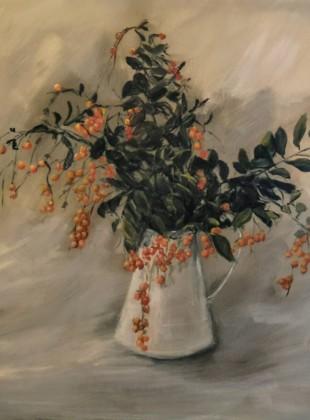 """Pitossporum berries"" size 76cm x 76cm"